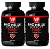 Natural blood pressure medication – BLOOD PRESSURE SUPPORT – Limit smoking and drinking to maintain normal Blood Pressure (2 Bottles – 120 Capsules)