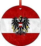 Austrian Flag%2DDouble%2DSided Round Sha...