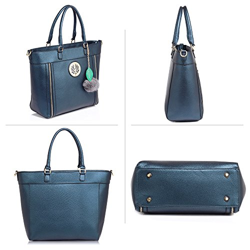 Shoulder Womens Handbag Celebrity Navy DELIVERY Style Gorgeous UK Tote FREE qBxRAtRv