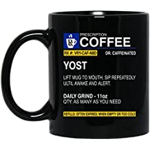 Personalized Engagement Mug - Name is YOST coffee Mug - Awesome Birthday gifts idea for YOST - Boy Personalized Gifts For Best Friend - Black 11oz Ceramic Tea Cup mug