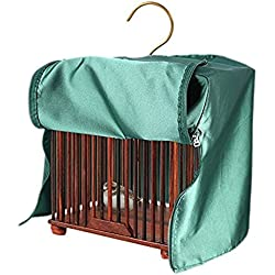 Yosoo Universal Bird Cage Cover Polyester Waterproof Parrot Canary Shade Cloth Pet Products-Square, Green