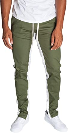KDNK Striped Cargo Track Pants with Ankled Zippers