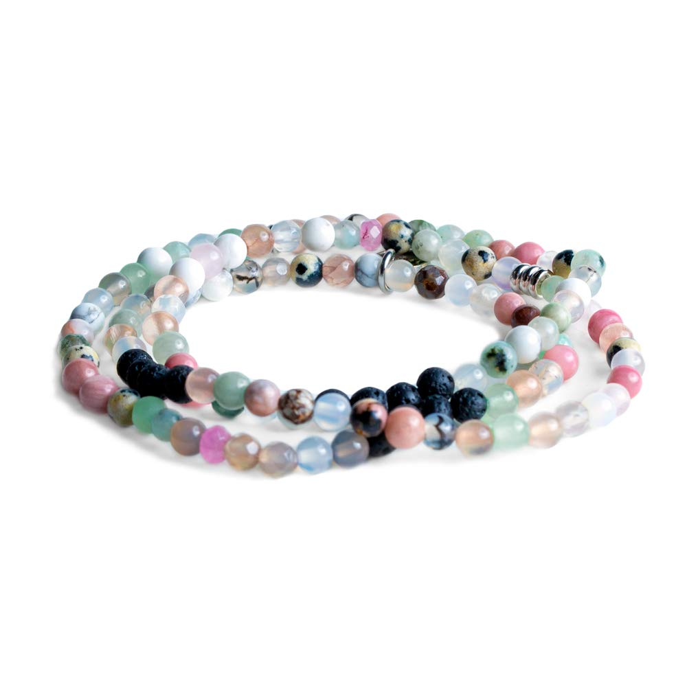 Edens Garden Capri Wrap Essential Oil Lava Bracelet or Necklace (Best for Diffusion and Aromatherapy Jewelry)