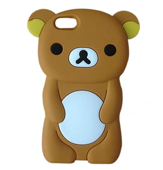 buy popular d234c ce05d LliVEER 3D Cute Cartoon Soft Silicone Case Protective Cover for iPhone 6  4.7 Rilakkuma Bear Brown