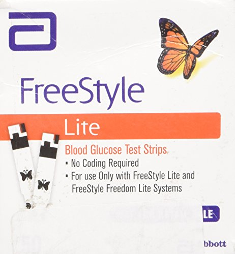 Freestyle Lite Blood Glucose Test Strips New Butterfly