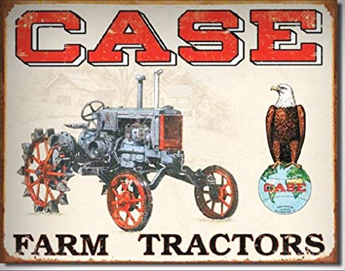 Case CC High Antique Tractor TIN SIGN Metal Wall Decor Art Poster Ad for Home/Man Cave Decor by PrettyMerchant (Sign Tractor Tin Case)