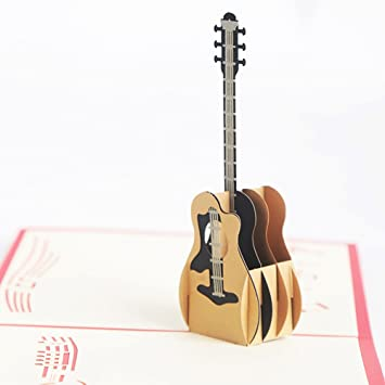 Amazon greeting cards merssyria guitar pop up cards 3d greeting cards merssyria guitar pop up cards 3d handmade creative greeting cards paper craft m4hsunfo