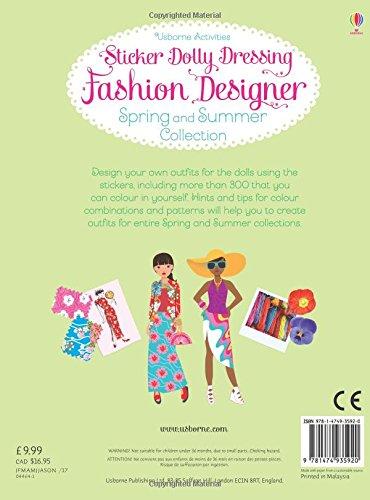Sticker Dolly Dressing Fashion Designer Spring And Summer Collection Fiona Watt 9781474935920 Amazon Com Books