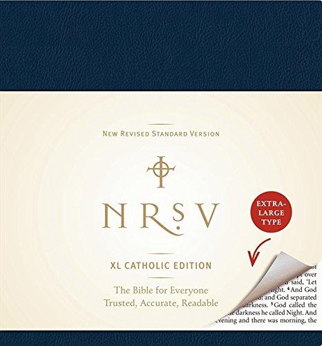 NRSV XL Catholic Edition (navy)