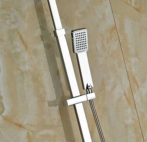 GOWE Bath Rainfall Shower Set Faucet Thermostatic Shower Chrome Polish Exposed 4