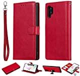 Software : Galaxy Note 10 Plus Case, Futanwei Magnetic Detachable Wallet [Fit Car Mount] 2-in-1 Magnet Adsorption Credit Card Holder Slots Leather Flip Phone Case for Samsung Galaxy Note 10+ Plus/5G, red