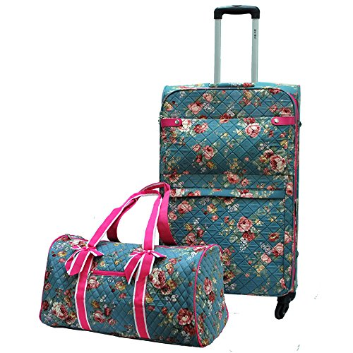 Quilted Luggage Set (Quilted Floral Lightweight Luggage Size 28