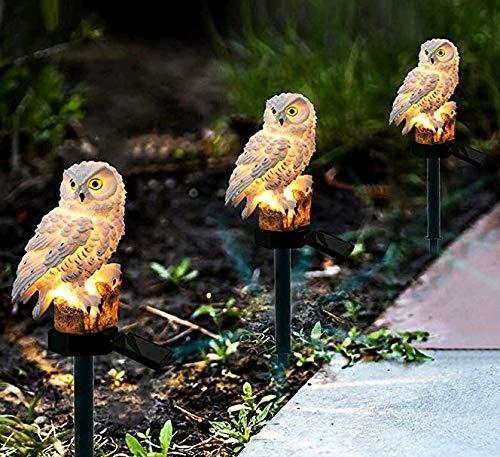 Owl Solar Garden Light - Missbee Garden Solar Lights Outdoor,OWL LED Decorative Waterproof Garden Stake Lights for Walkway Yard Lawn Landscape Lighting