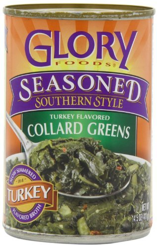 Glory Foods, Seasoned, Collard Greens in Turkey Broth, 14.5oz Can (Pack of 6) by Glory Foods