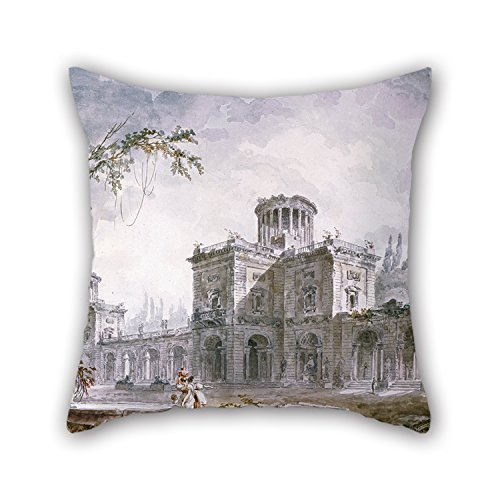 Artistdecor Throw Pillow Case Of Oil Painting Hubert Robert - Architectural Fantasy, 1760,for Family,indoor,sofa,valentine,dining Room,boys 18 X 18 Inches / 45 By 45 Cm(twice Sides) by artistdecor