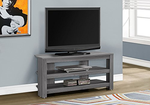 TV Stand in Gray Finish