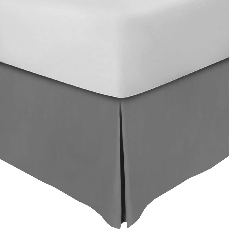 Utopia Bedding King Bed Skirt,16 Inch Drop (Grey)