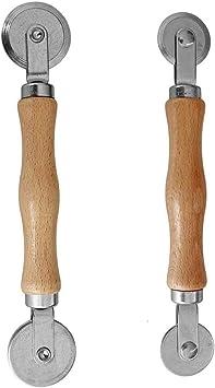 Screen Spline Roller Tool with Wooden Handle and Steel Bearing Wheel Aeloa Screen Rolling Tool