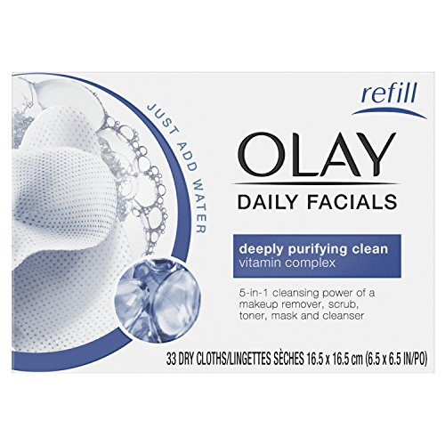 Olay Facial Cloths, 33 Count  Packaging may Vary