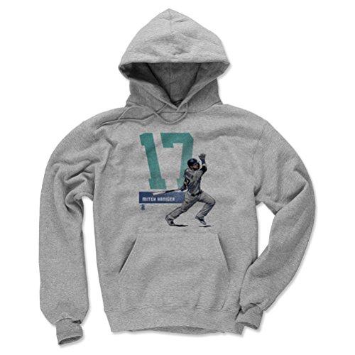500 LEVEL Seattle Baseball Men's Hoodie - Large Gray - Mitch Haniger Grunge ()