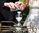 "Lillian Rose Unity Sand Hour Glass, 8"" x 3.25"", Clear"
