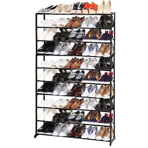 50 Pair Shoe Rack,10 Tiers Shoe Rack Space Saving Shoe Tower