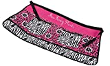 Gift Craft 32.3-Inch Polyester and Cotton Miss Fancy Pants Design Garden Apron, Medium, Pink/Black/White