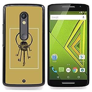 - Guitar Keys Meaning Golden Brown/ Duro Snap en el tel????fono celular de la cubierta - Cao - For Motorola Verizon DROID MAXX 2 / Moto X Play