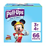 Pull-Ups Cool & Learn, 3T-4T (32-40 lb.), 66 Ct. Potty Training Pants for Boys, Disposable Potty Training Pants for Toddler Boys (Packaging May Vary) Image