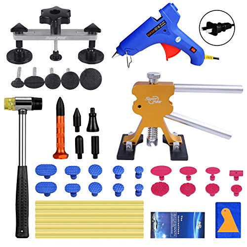 Super PDR Paintless Dent Repair (PDR Tool) Kit 42Pcs Car Dent Puller Removal Dent Remover Kit
