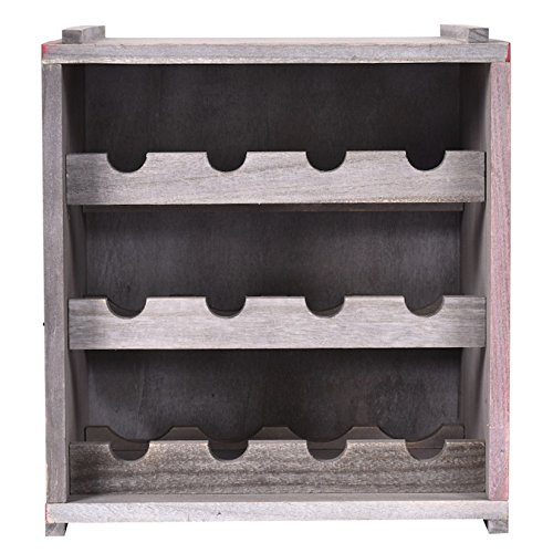 You Tube Christmas Shoes (Wooden Wine Rack 3 Tiers 12 Bottles Free Standing Vertical Design Display Shelves Storage Cabinet Home Kitchen Bar Décor Surface Painted Paulownia Construction)