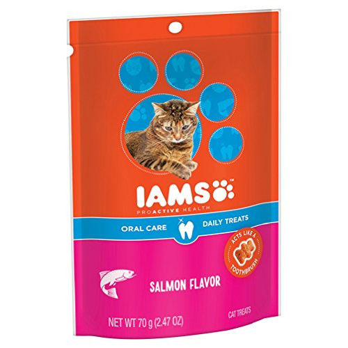 IAMS-PROACTIVE-HEALTH-Oral-Care-Daily-Treats-for-Cats-Salmon-Flavor-247-Ounces-Pack-of-10