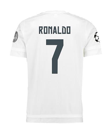 0cf96e23fdcf8 Adidas Ronaldo  7 Real Madrid UEFA Camiseta 1ra Champions League Juventud  2015 2016 (