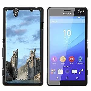 For Sony Xperia C4 Case , Arquitectura antigua Nord vikingos Dioses Fiordos- Diseño Patrón Teléfono Caso Cubierta Case Bumper Duro Protección Case Cover Funda