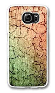 Cracked Concrete abstract Custom Samsung Galaxy S6/Samsung S6 Case Cover Polycarbonate White Kimberly Kurzendoerfer