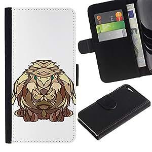 Billetera de Cuero Caso del tirón Titular de la tarjeta Carcasa Funda del zurriago para Apple Iphone 5 / 5S / Business Style The Viking Rabbit