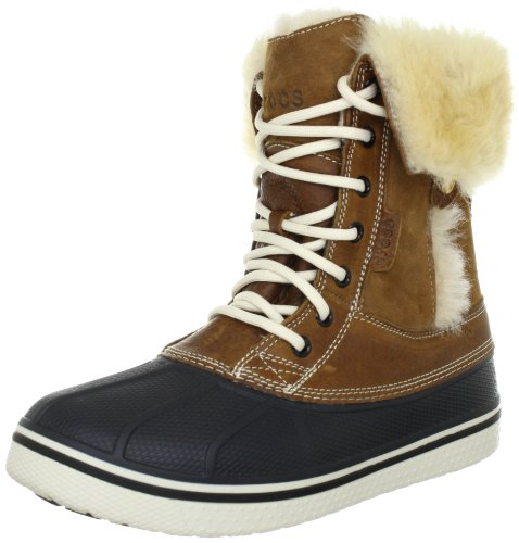 Crocs Women's AllCast Luxe Duck Boot - Hazelnut/Stucco - ...