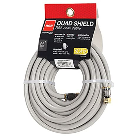 RCA DH25QCF 25-Feet Quad Shield Coax Cable