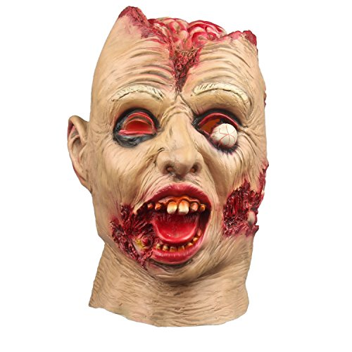 Halloween Mask Horror Latex Vampire Zombie Scared Ghost Head Costume -