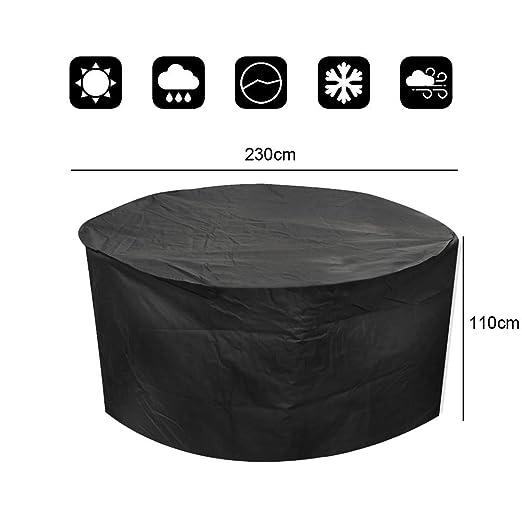 Vinteky® Multifuncional, Práctico, Resistente, Impermeable Cubierta Protectora de Muebles al exterior, Funda para los mesas/ sillas del jardín al aire ...