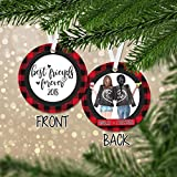Personalized Best Friends Forever Christmas Shatterproof Ornament - Gifts for Best Friend - Unique Decorations - Red Flannel Tree Ornaments 2018 - Decor - RO0037