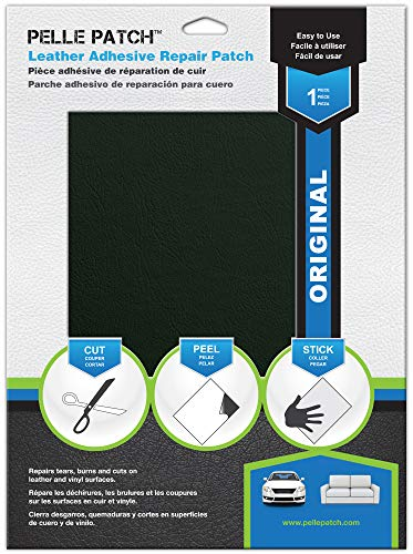 Pelle Patch - Leather & Vinyl Adhesive Repair Patch - 25 Colors Available - Original 8x11 - Dark Green