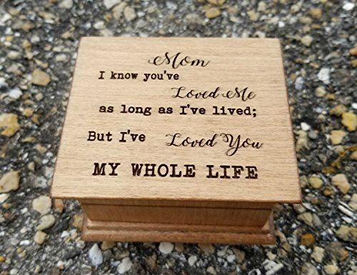 Mother's day gift, Custom made music box with a quote for Mom with your choice of color and song, perfect gift for Mom by Simplycoolgifts