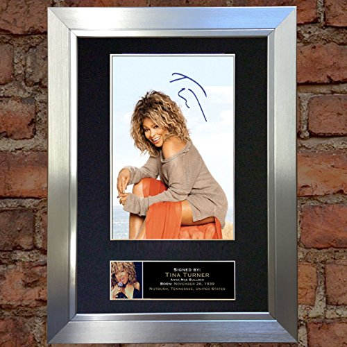 TINA TURNER Signed Autograph Mounted Photo Reproduction A4 P