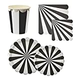 Calisea Matchy Matchy Party Set for 16, Toot Sweet Black