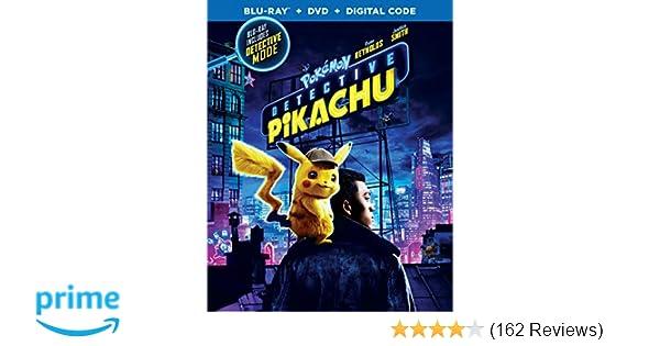 Amazon com: Pokemon Detective Pikachu (Blu-ray + DVD + Digital Combo