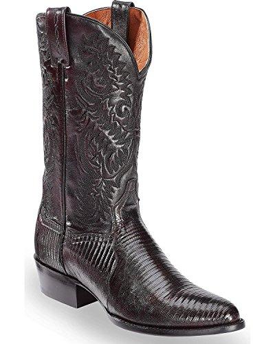 - Dan Post Men's Raleigh Cherry Lizard Cowboy Boot Round Toe Black Cherry 12 D(M) US