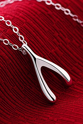 Thai Love Your Unique Wishbone Necklace Pendant Women Girls Chain Clavicle Short s925 Silver Accessories Women Gift Gift