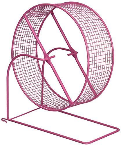 Prevue Pet Products SPV90013 Wire Mesh Hamster/Gerbil Wheel Toy for Small Animals, 8-Inch, Colors Vary ()