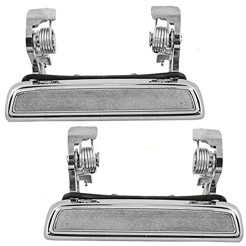 Pair Set Outside Exterior Front Rear Chrome Door Handles Replacement for 73-86 Ford Various Models D8BZ6522405A D8BZ5422404A